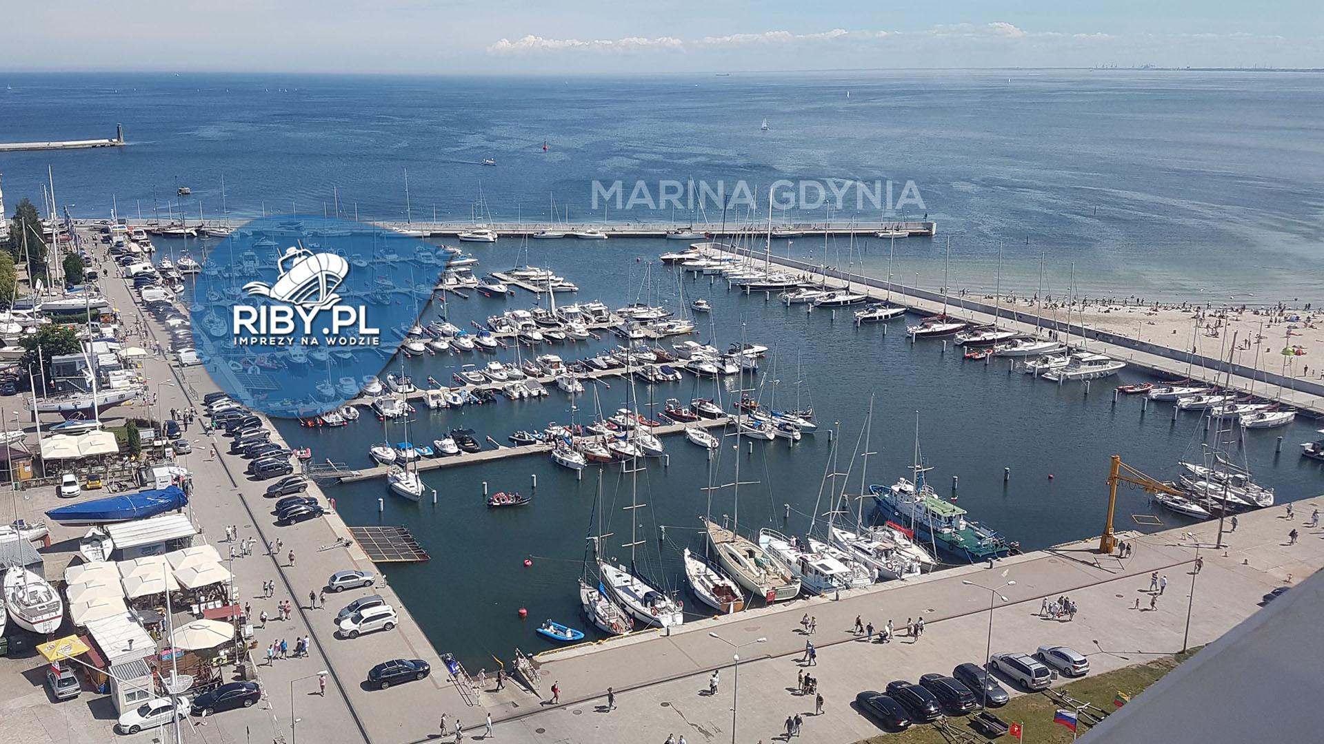 Marina Gdynia - widok z drona
